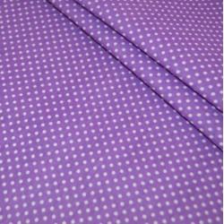 Бязь Мелкий горох фиолетовая