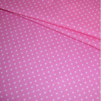 Бязь Звезды мелкие розовая