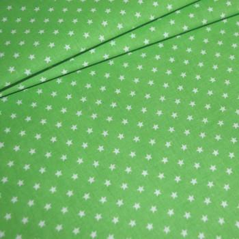 Бязь Звезды мелкие зеленая