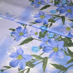 """Бязь """"Голубые цветы"""" шир 220"""