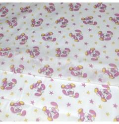 Миткаль Зайцы розовые шир 90 см