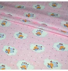 Ситец Барашки шир 95 см розовый