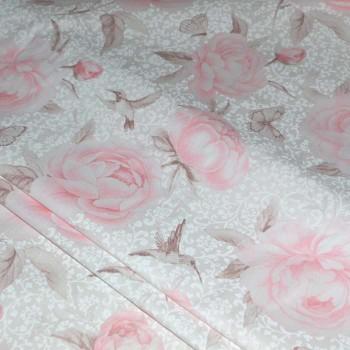 Тик перьевой Роза 05433/1 шир. 150 см.