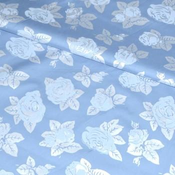 Тик перьевой Роза голубой шир 220