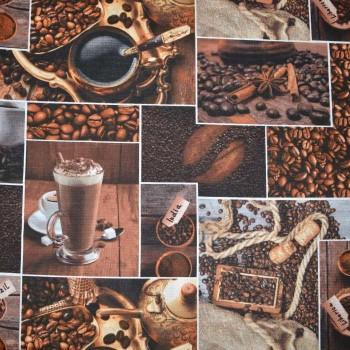Полотно вафельное Кофе шир 150 см