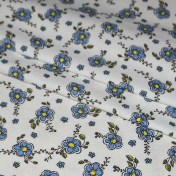 """Фланель """"Цветок"""" синий 150 см"""
