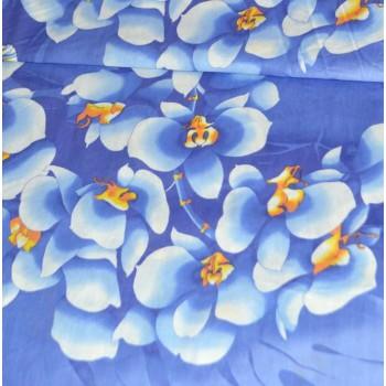 """Бязь """"Орхидея"""" голубая 150 см"""