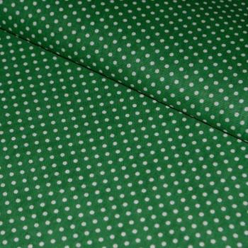 """Бязь """"Мелкий горох"""" темно-зеленая"""