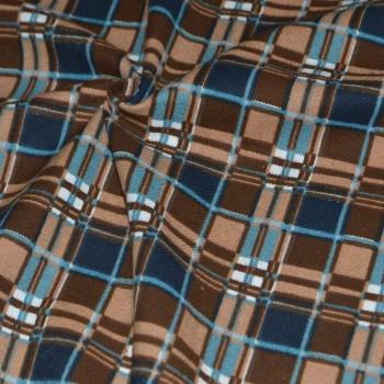 Фланель Клетка шир.150 коричневая