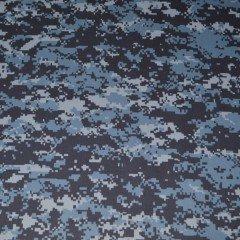 Ткань Защита Peach 210 синяя цифра