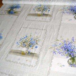 """Рогожка """"Полевые цветы"""" полотенечная (купон)"""