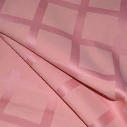 """Отрез скатертной ткани """"Журавинка"""" клетка розовая 150 х 400"""