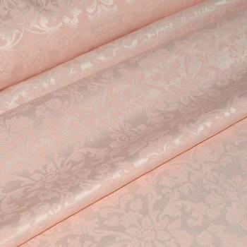 """Ткань скатертная """"Журавинка"""" вензель персиковый"""