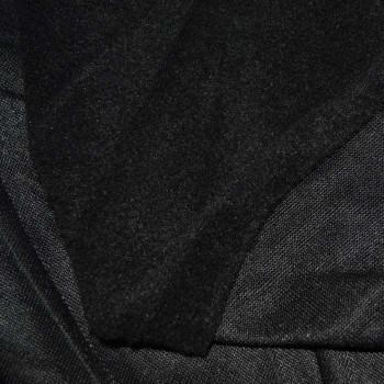 Флис подкладочный черный