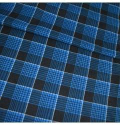 Фланель Клетка сине-черная шир 150