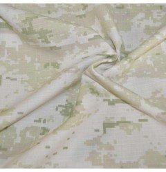 Ткань Рип-Стоп Цифра белая