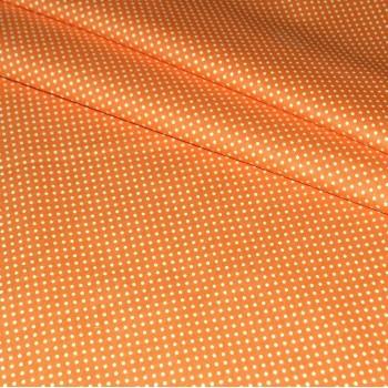 """Бязь """"Мелкий горох"""" оранжевая"""