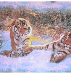 """Бязь набивная """"Тигры"""""""