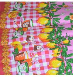 Ткань рогожка набивная рис.4270