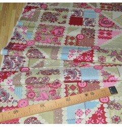 Ткань льняная набивная рис.4939