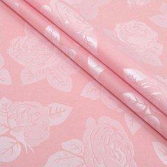 """Поплекс """"Розы"""" розовый 220 см"""